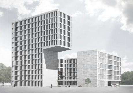 Herbert Hussmann Architekten Deutsches Institut für Internationale Pädagogische Forschung DIPF Perspektive
