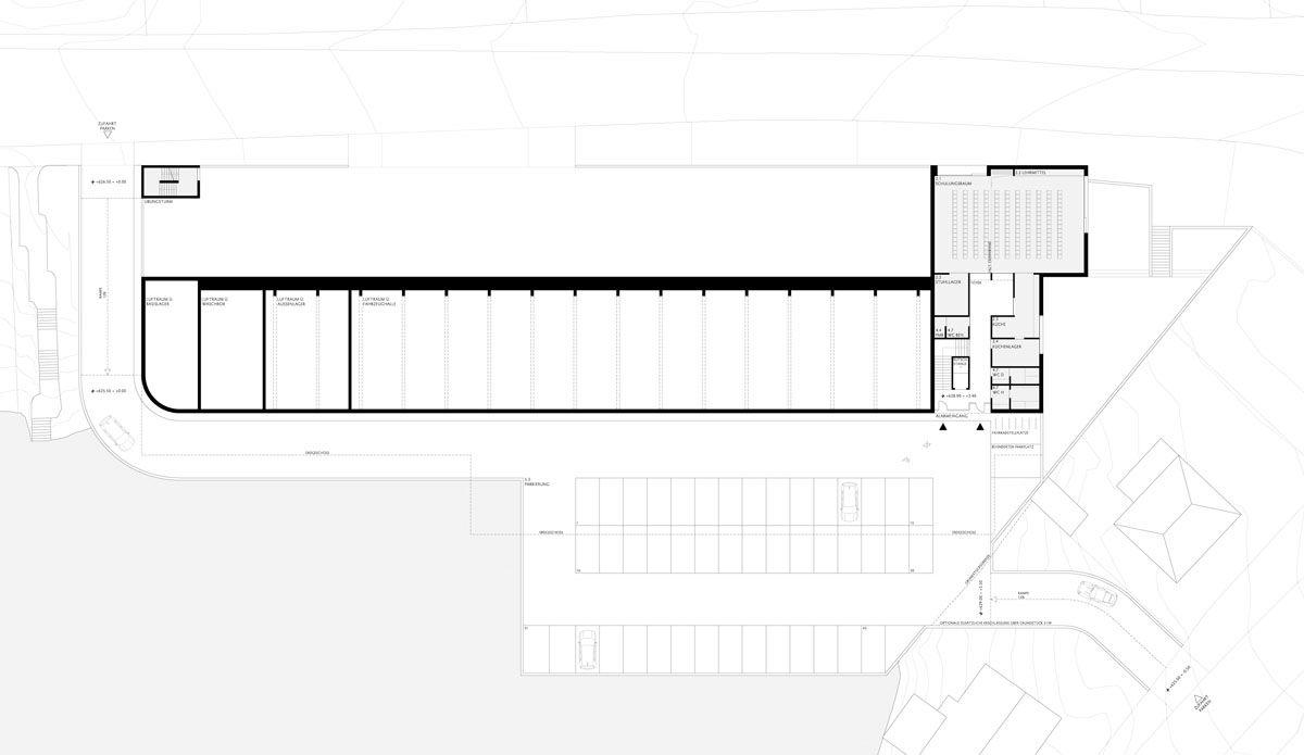 Herbert Hussmann Architekten Feuerwehrhaus Rottweil Grundriss OG
