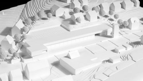 Herbert Hussmann Architekten Feuerwehrhaus Rottweil Modell