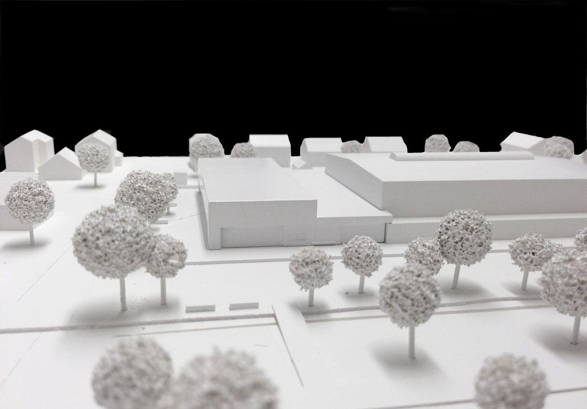 Herbert Hussmann Architekten Mehrzweckhalle Hohberg-Niederschopfheim Modell