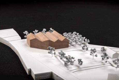 Herbert Hussmann Architekten Neugestaltung Straßkirchener Mitte mit Rathausneubau Modell