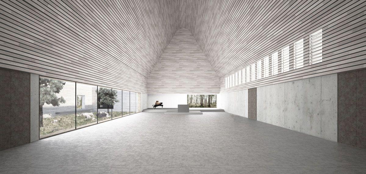 Herbert Hussmann Architekten Ny Valer Kirke Perspektive Innenraum
