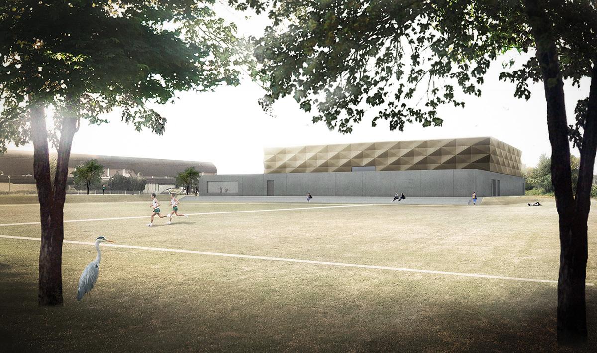 Herbert Hussmann Architekten TASK Sporthalle Kassel 3-Feld Sporthalle