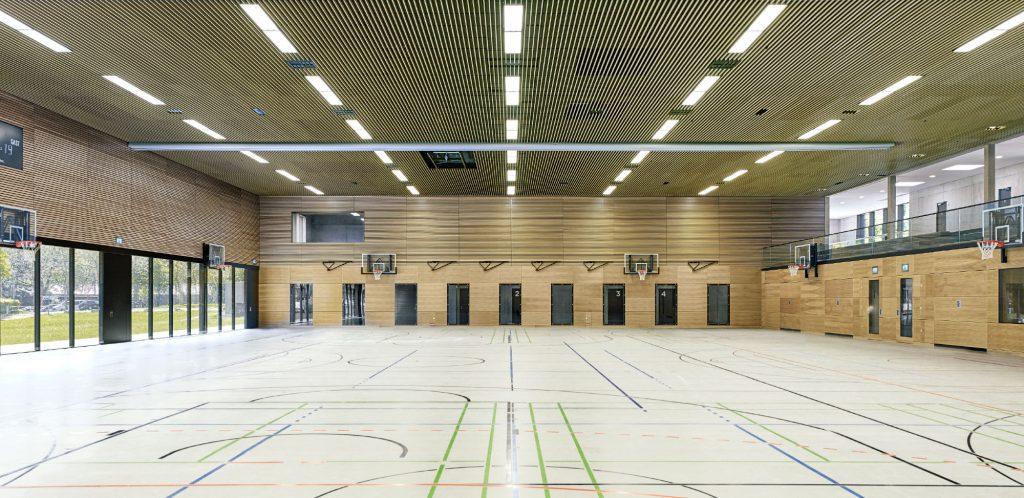 Schönberghalle Pfullingen 3-Feld Sporthalle Herbert Hussmann 3 Feld Sporthalle Dreifeld Sporthalle