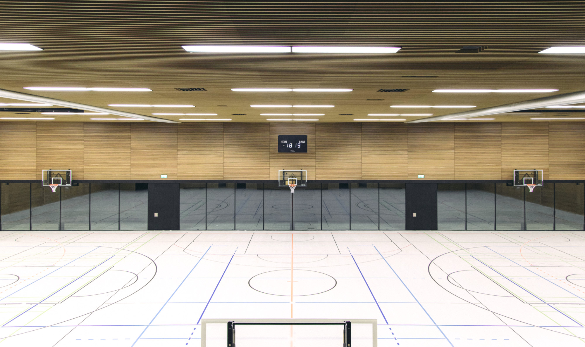 Schönberghalle Pfullingen 3-Feld Sporthalle Herbert Hussmann